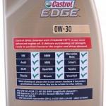 specyfikacja castrol edge 0w30
